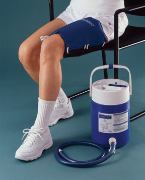 AirCast thigh Cryo/Cuff w/ gravity feed cooler